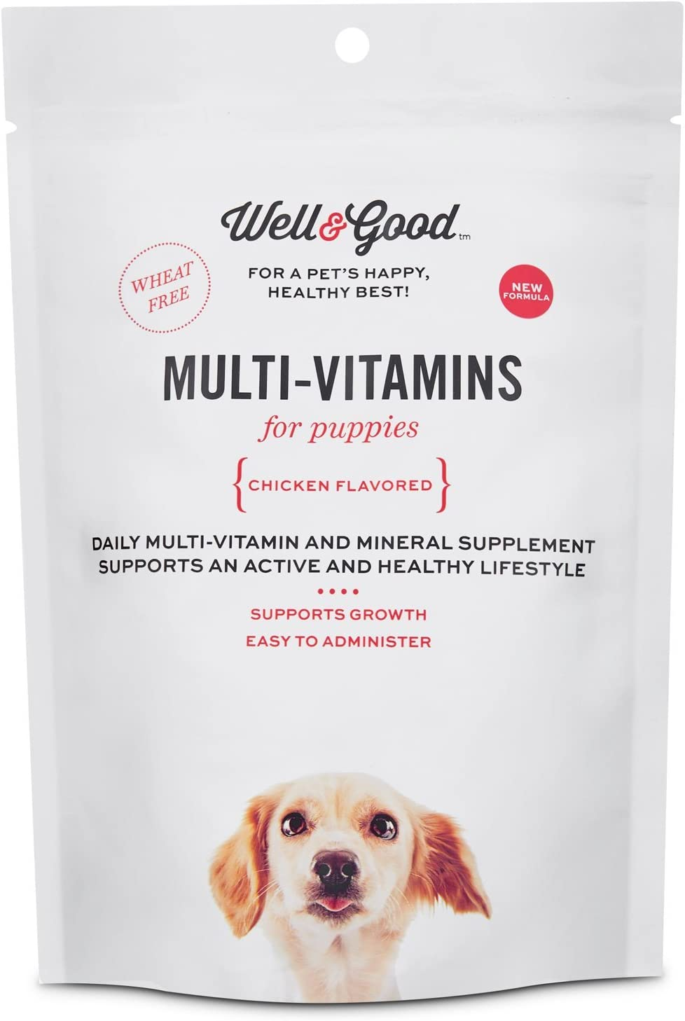 Well & Good Puppy Stage Daily Soft Chews Dog Vitamins, 60 Count