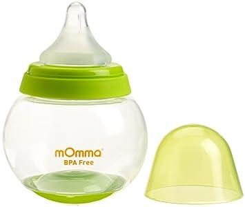 Amazon.com : Lansinoh mOmma Rocking Feeding Bottle, Green, 8.4 ...