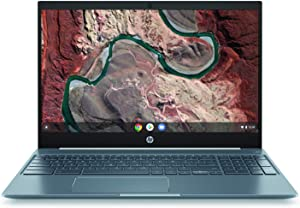 "HP Chromebook 15 - 15.6"" Full HD Touchscreen Intel Core i3-8130U Intel UHD Graphics 620 4GB SDRAM 128GB eMMC Audio by B&O Ceramic White/Cloud Blue Backlit Keyboard 15-de0517wm (Renewed)"