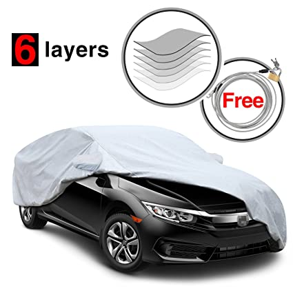 KAKIT 6 Layers Civic Car Cover For Honda Civic 2010 2017, All Weather  Waterproof