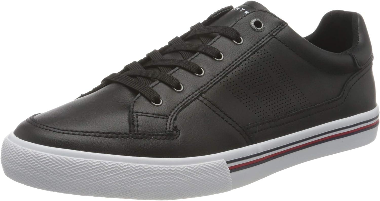 Tommy Hilfiger Core Corporate Leather Sneaker, Zapatillas Hombre