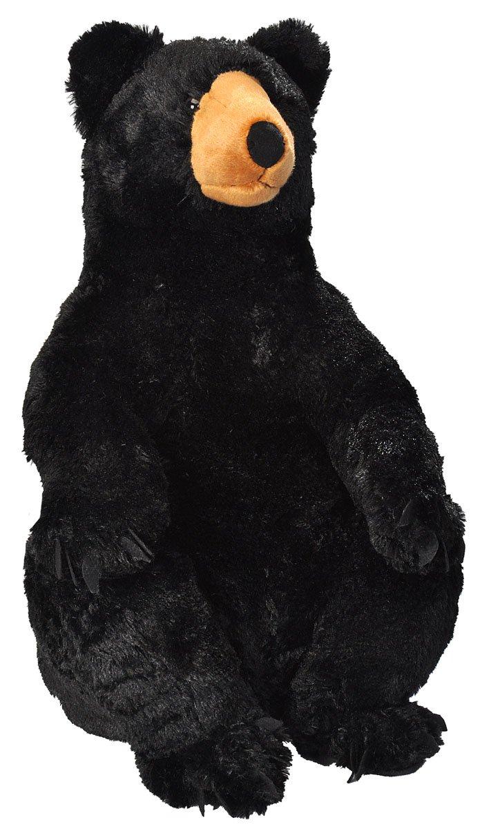 Wild Republic Black Bear Plush, Stuffed Animal, Plush Toy, Gifts for Kids, Little Biggies 30 Inches by Wild Republic