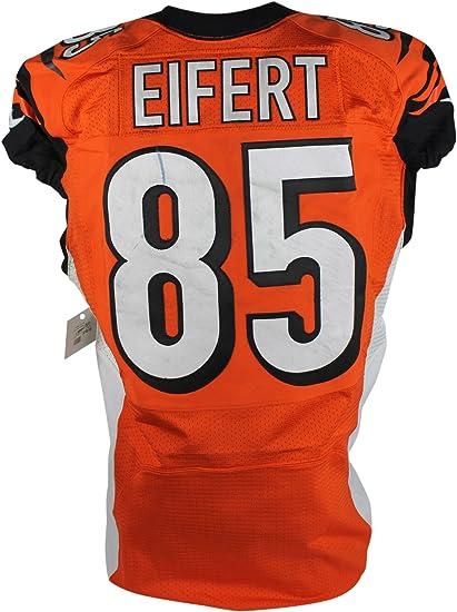 Amazon.com: Bengals Tyler Eifert Game Used NFL Nike Road Jersey 11 ...