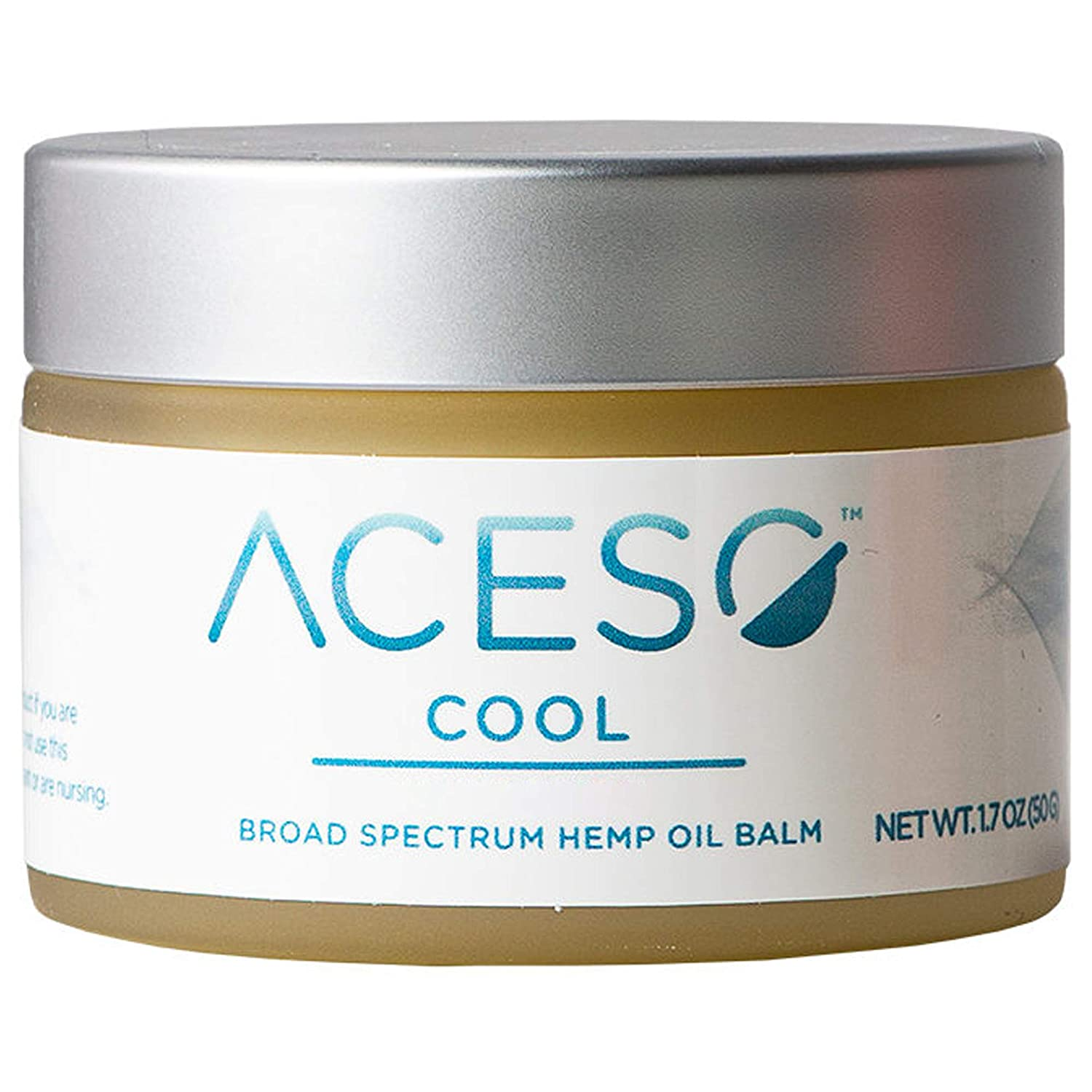 ACESO Cool Hemp Oil Balm, Pleasant Cooling Sensation on The Skin with Over 20 Essential Oils, 1.7 Ounces, 50 Grams