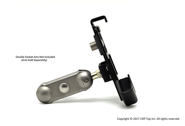 Cliff-Top/® moto universale porta cellulare con sfera 2,5 cm alluminio