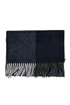 Wool Angora Scarf ALLAA 19752: Grey / Navy