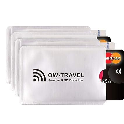 ✅ Bloqueo RFID - ANTI FRAUDE - Protectores para Tarjetas de Crédito Débito Sanitaria Identificaciones - Protector Pasaporte - Protección 100% de RFID ...