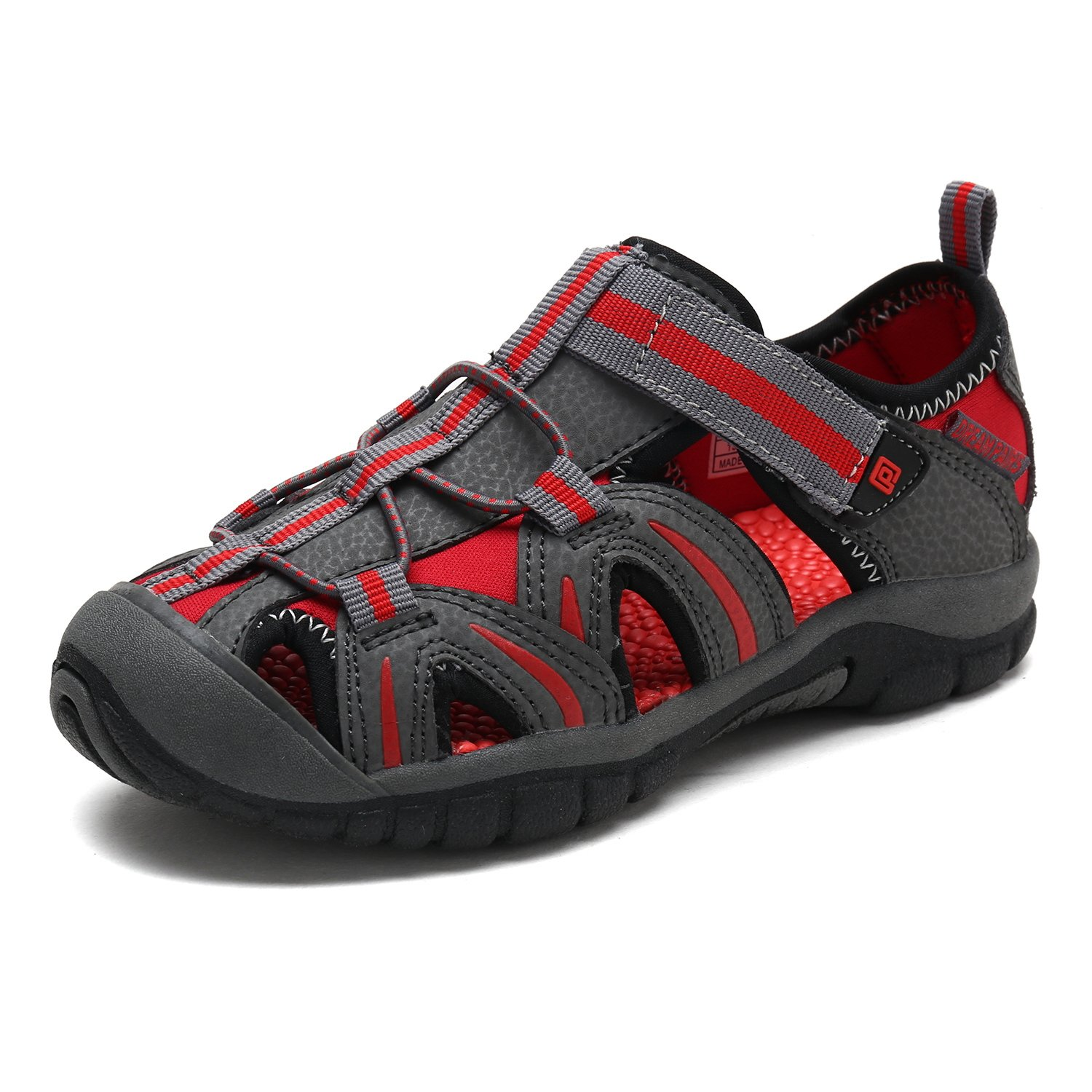 DREAM PAIRS Toddler 171112-K Grey RED Outdoor Summer Sandals Size 9 M US Toddler