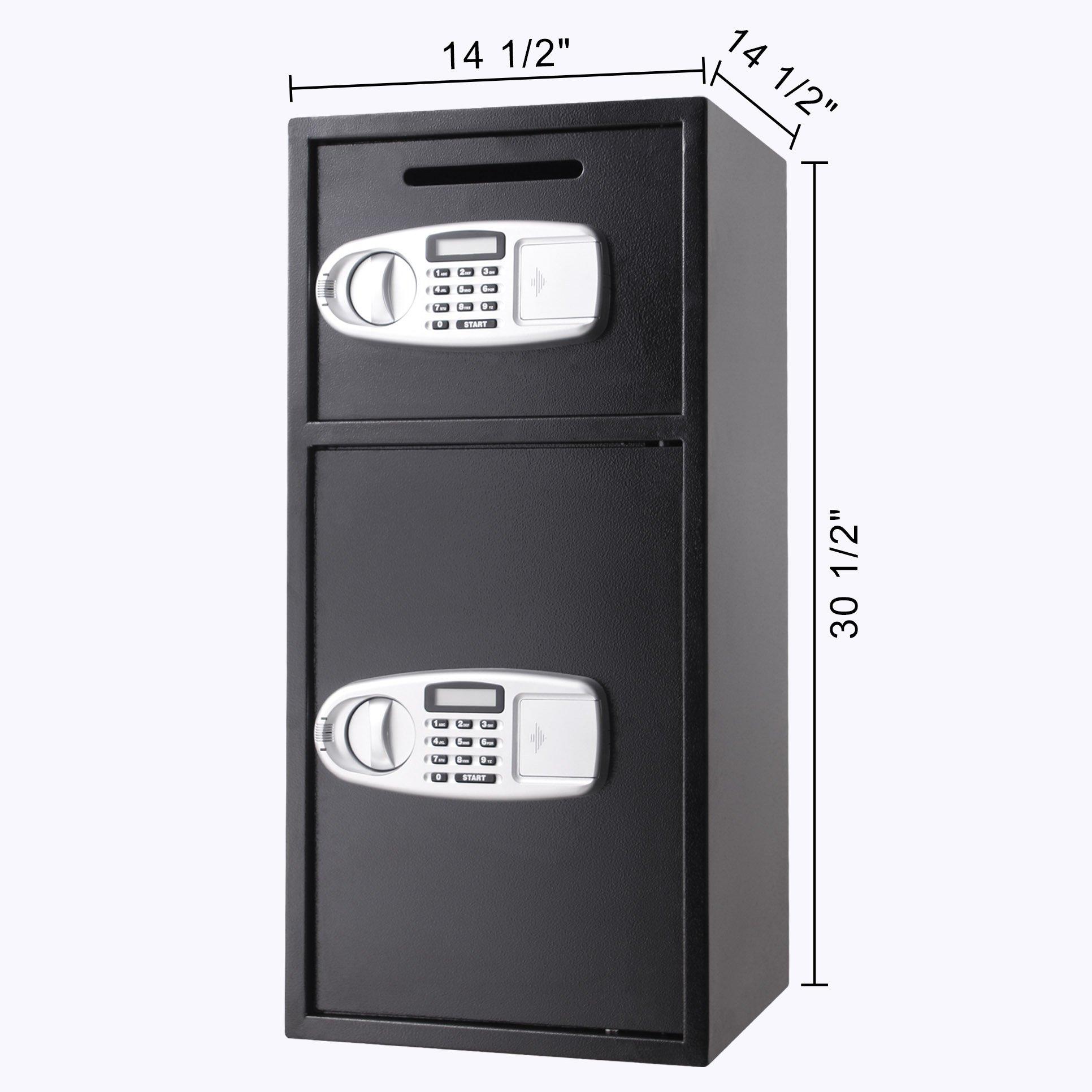 Superland Large Double Door Security Safe Box Depository Safe Steel Safe Box Digital Safe Depository for Money Gun Jewelry (Large Digital Safe Box) by Superland (Image #1)