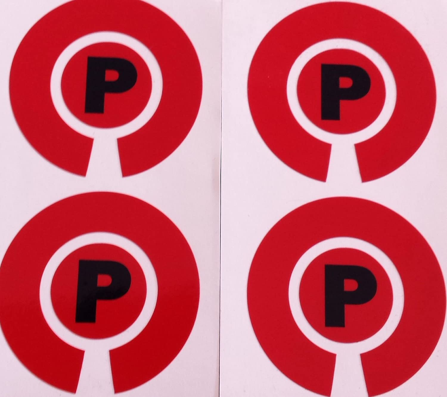 Crown Green Lawn Indoor Bowls Adhesive Lettered Coloured Marker Labels Set of 4 Red, P