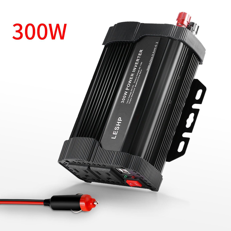 Power Inverter Converterleshp 300w 12v Dc To 110v Ac Modified Sine Wave Circuit With Waveform Images Verified Car Converter Cigarette Lighter Alligator Clips