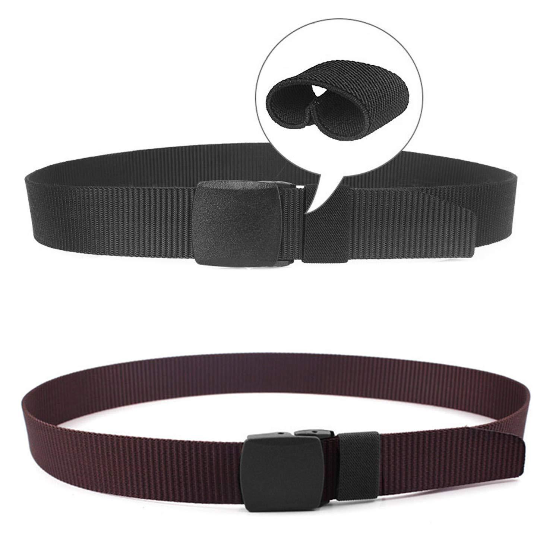 Chalier 2 Pacchi Cintura Tattica in Tela in Stile Militare da Uomo 1.5 Tessuto in Nylon Cintura con Fibbia