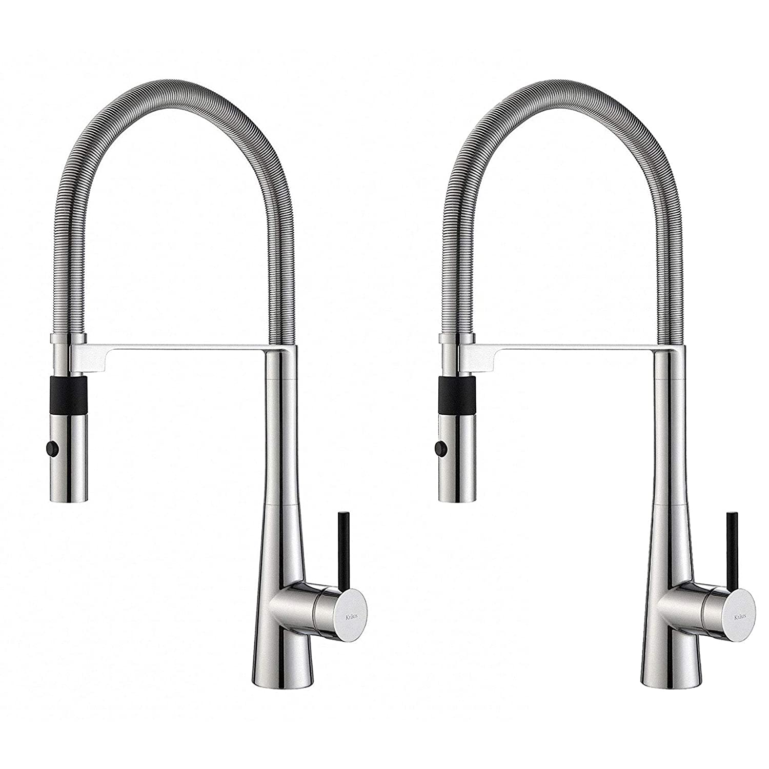"Kraus Crespo 20"" Single Handle Kitchen Faucet w/Pull Down Sprayhead (2 Pack)"