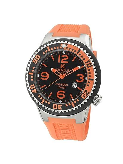 Kienzle POSEIDON K2043153253-00272 - Reloj unisex, correa de silicona color naranja: Amazon.es: Relojes