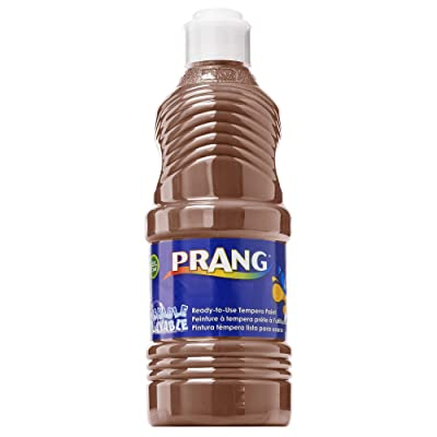 Prang Ready-to-Use Washable Tempera Paint, 16-Ounce Bottle, Brown (10708): Office Products