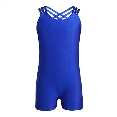 IEFIEL Justaucorps de Ballet Enfant Fille Body de Ballet Danse Combinaison  de Danse Classique Gymnastique Bodysuit 676035db146
