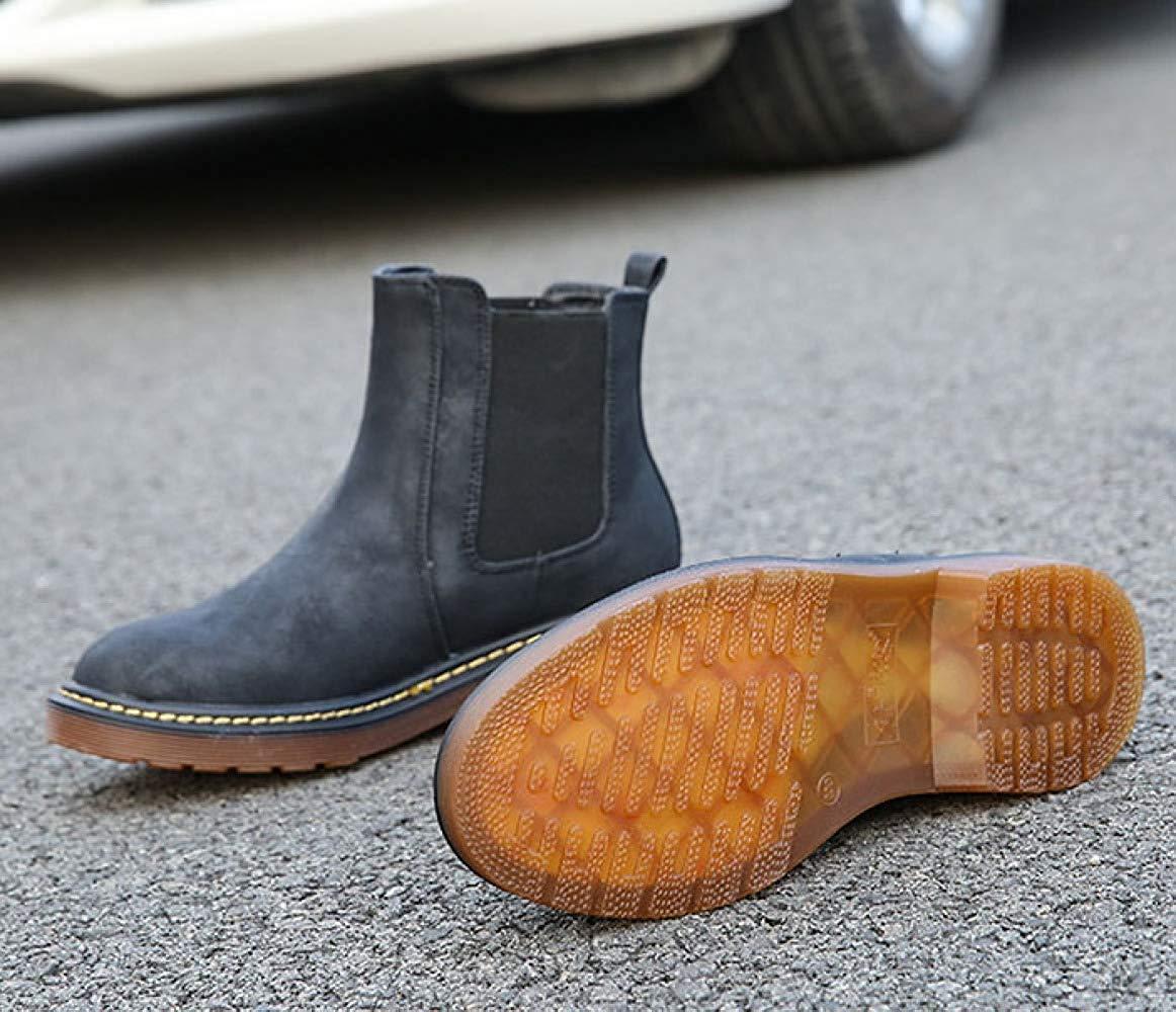 HhGold Stiefeletten Retro Casual Stiefel Stiefel Stiefel Warme Runde Martin Stiefel Flache Schuhe (Farbe   1 Größe   37EU) 4de62e