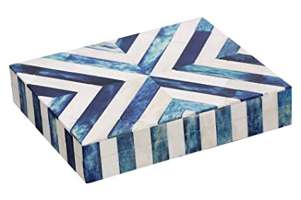 Amazon Com Handicrafts Home Chevron Jewelry Gift Boxes Jewelry