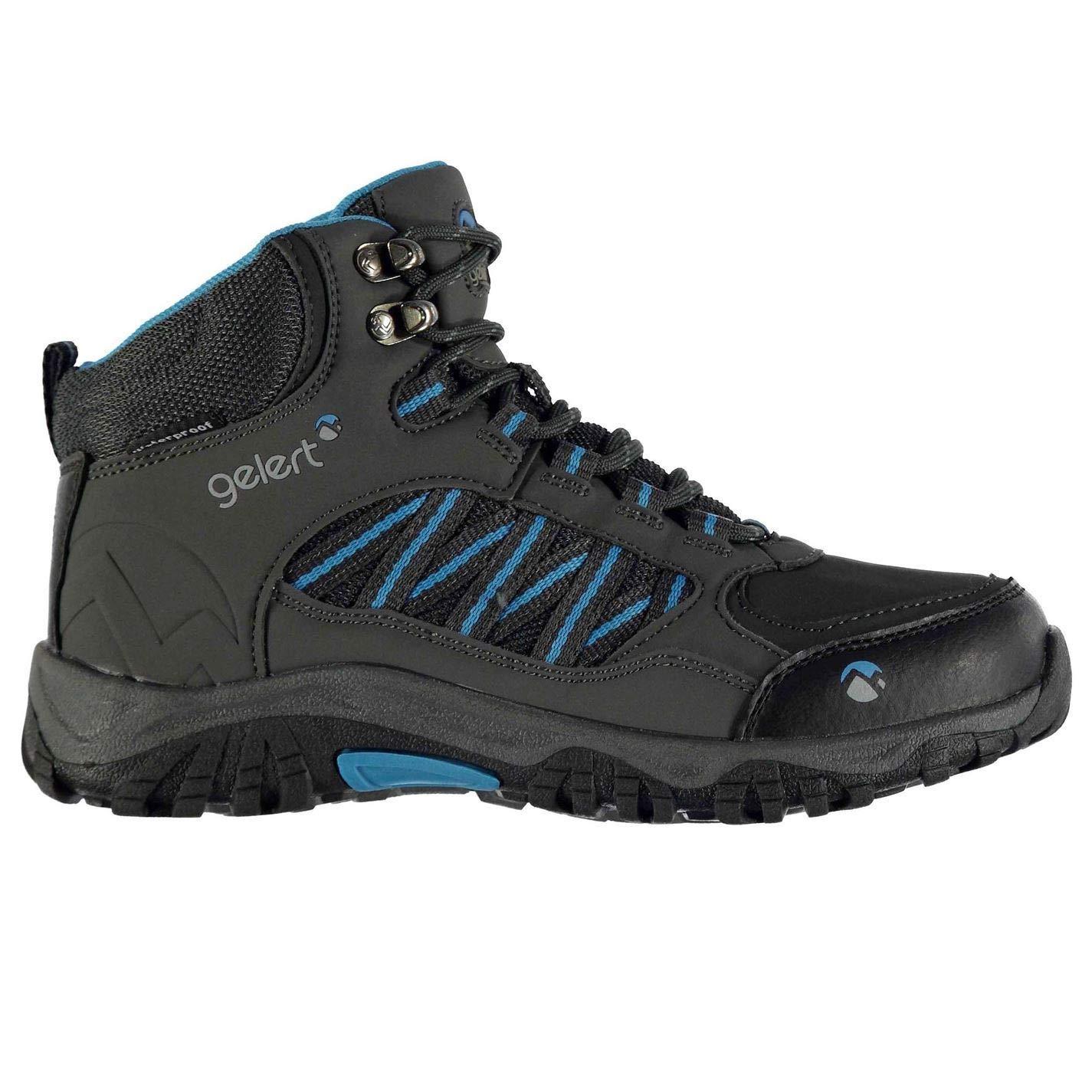 Official Brand Gelert Horizon Chaussures de Randonnée Imperméable Garçon Anthracite Bleu Randonnée Trekking Chaussures (UKC11) (EU29) (USC12)  -