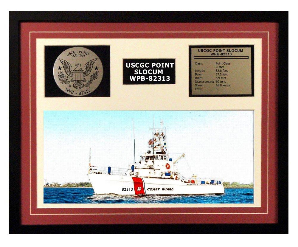 USCGCポイントSlocum wpb-82313 Framed Coast Guard出荷表示Burgundy 20W x 16H レッド 190404000002 B01G04FG0I バーガンディー