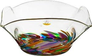 Jerpoint Irish Glassware Medium Square Bowl 13 x 25 cm Made in Ireland (Festival)