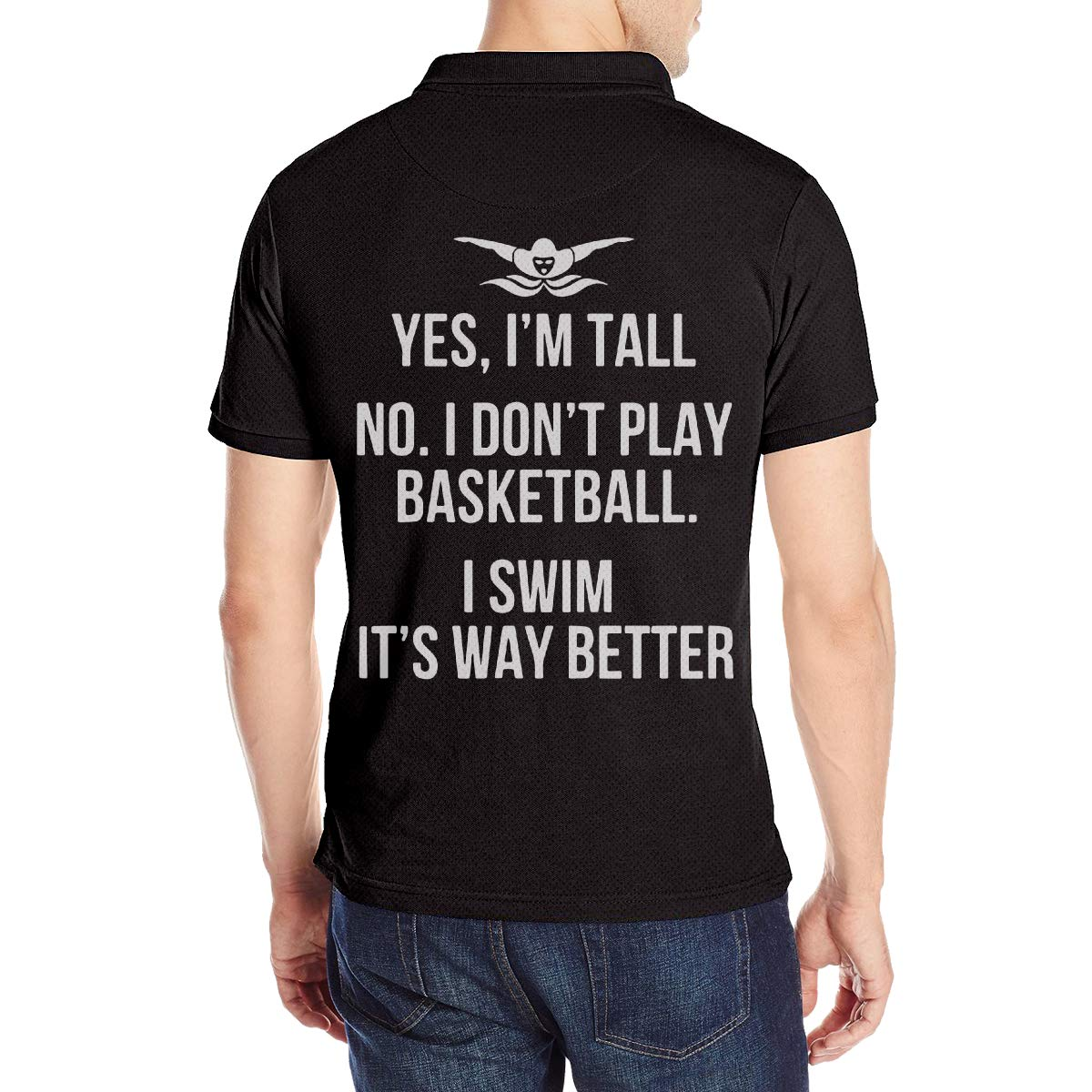 Yes Im Tall No I Dont Play Basketball Classic US Short Sleeve Polo Shirts for Men