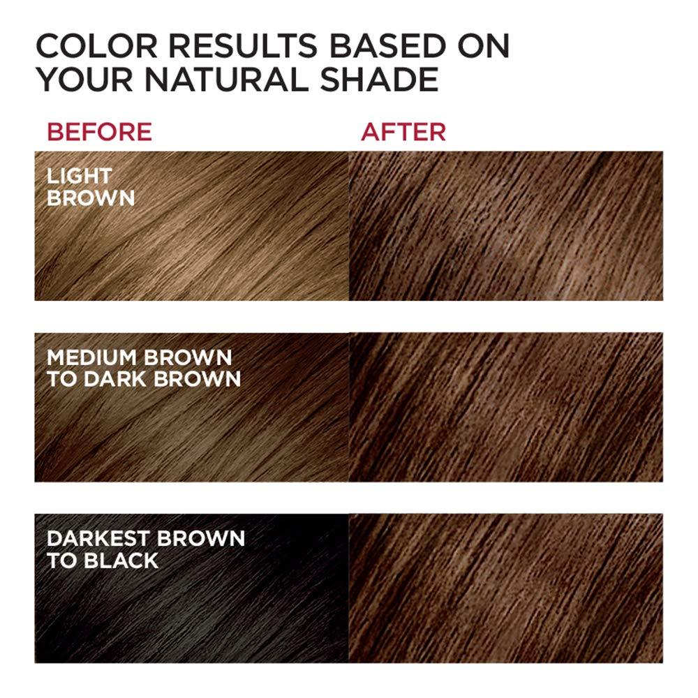L Oraƒal Paris Excellence Craƒme Permanent Hair Color 4g Dark Golden Brown 100 Gray Coverage Hair Dye Pack Of 1