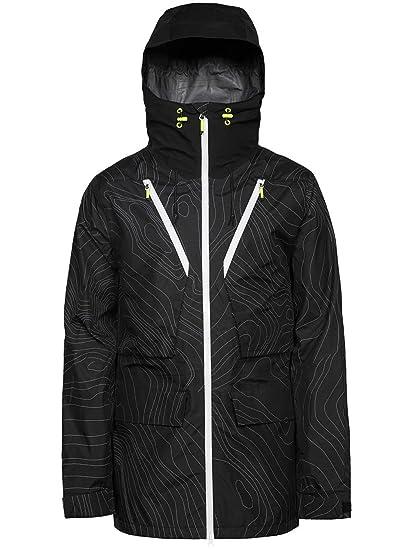 wearco Lour Hombre Snowboard Chaqueta Raven, Color Black Elevation, tamaño Large