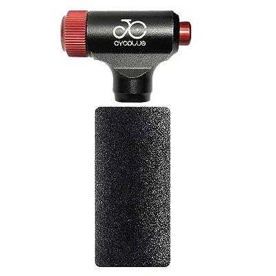 Portable Quick CO2 Inflator Bicycle Tire Presta /& Schrader Valve Bike Tire Pump