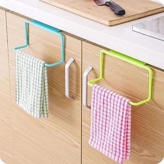Pack de 2 plástico Toalla de Cocina Armario Colgante para baño estantes Armario de Cocina Armario Colgador: Amazon.es: Hogar