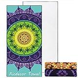 Ricdecor Beach Towel Large Mandala Beach Towel Blanket with Tassels Ultra Soft Super Water Absorbent Multi