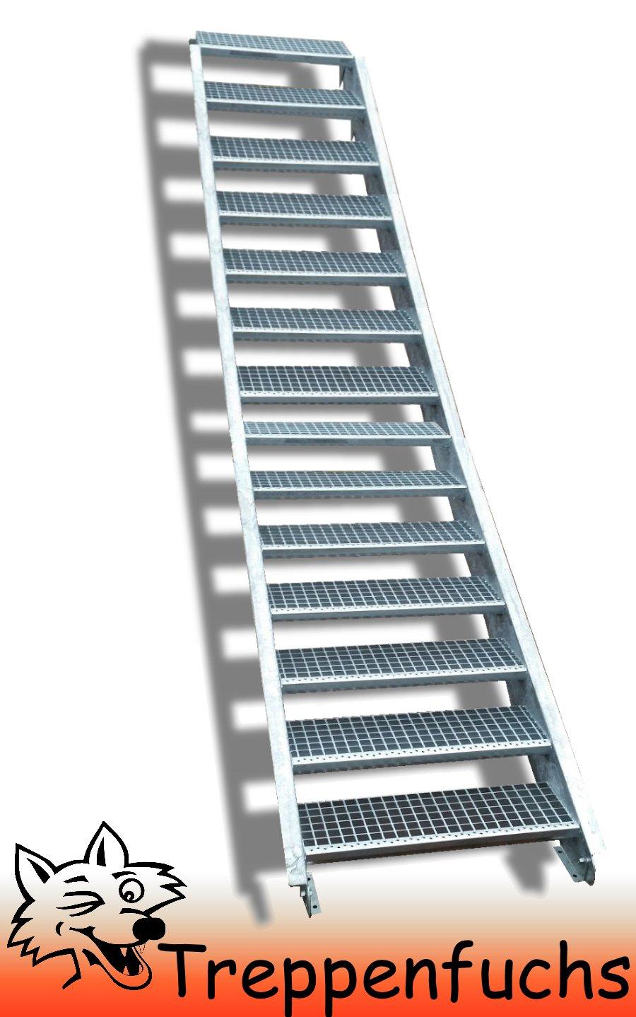 14 Stufen / 100cm breit / Höhe 210 - 280cm