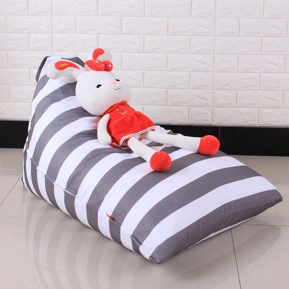 Leoy88 Rhombus Stuffed Animal Storage Bean Bag Chair - Premium Cotton Canvas - Great for Decluttering the Room - Sit and Stuff Storage Bean Bag, Stuffed Toys, Clothes, Sheets, Towels (E) by Leoy88 (Image #4)