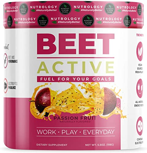 Beet Active – All Natural Vegan Pre Workout Supplement with Electrolytes – 30 Servings – Nutrology