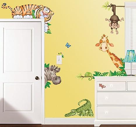 Borders In The Jungle Wildlife Animal Stickers Wall Decals Children Bedroom  Decor