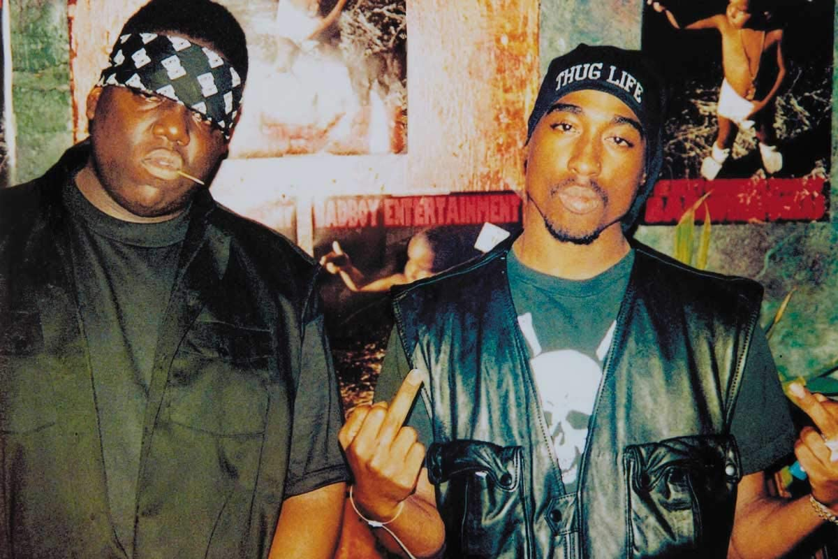 24 x 36 inches Tupac and Biggie Middle Fingers Hip Hop Poster