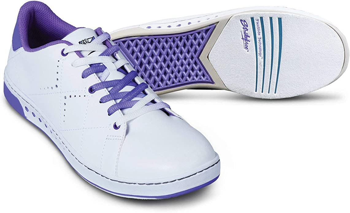 KR Strikeforce Gem White/Purple Women's Bowling Shoe