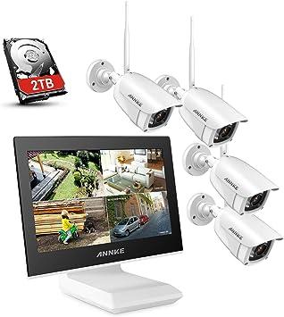 1080P WLANÜberwachungskamera Video Monitor NVR 2MP IP Kamera Außen System Sets