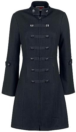trouver le travail chercher profitez de la livraison gratuite Jawbreaker Manteau Style Officier Manteau Militaire Noir