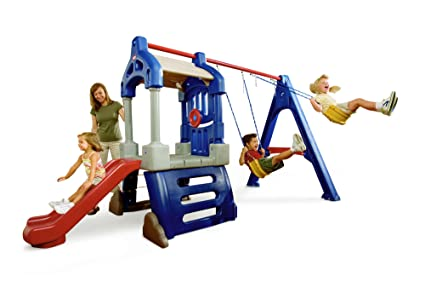 cace220a1fa3 Amazon.com  Little Tikes Clubhouse Swing Set  Toys   Games