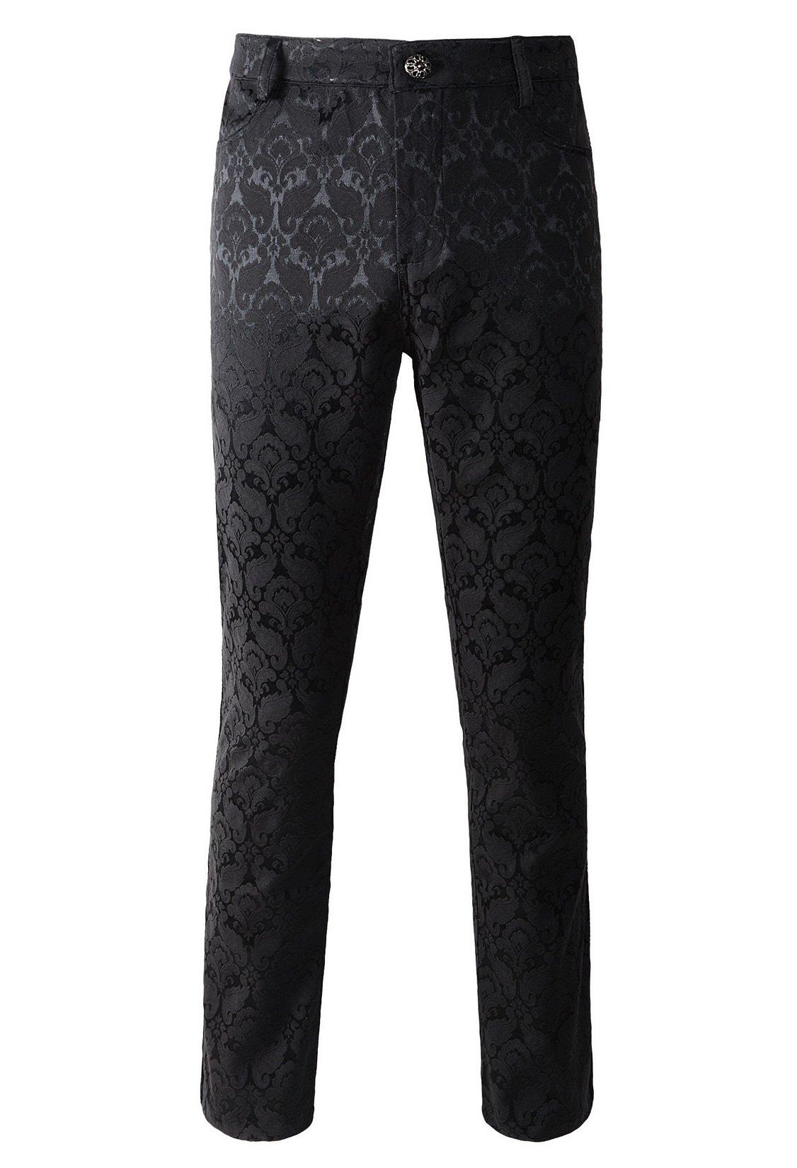 DarcChic Mens Trousers Pants Brocade VTG Gothic Aristocrat Steampunk Side Braiding Trim 3