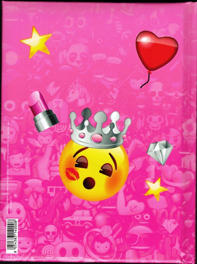 Diario Agenda Escolar Emoji emotion- 12 meses - Rosa: Amazon ...