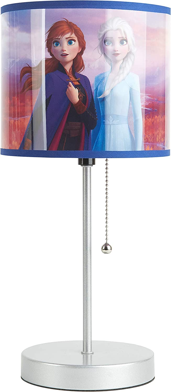 Disney Frozen 2 Stick Table Lamp Featuring Anna & Elsa, Multi