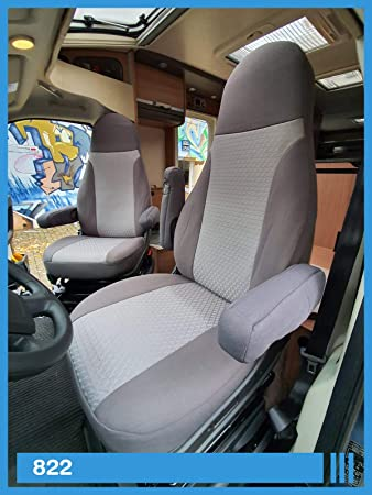 Maß Sitzbezüge Kompatibel Mit Wohnmobil Fahrer Beifahrer Grau 822 Auto