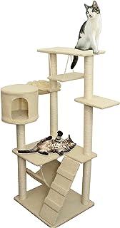 oxgord 8 level condo cat tree house with scratching post hammock bed pet toy amazon     oxgord paws  u0026 pals cat tree house 16 x 16 x 20      rh   amazon