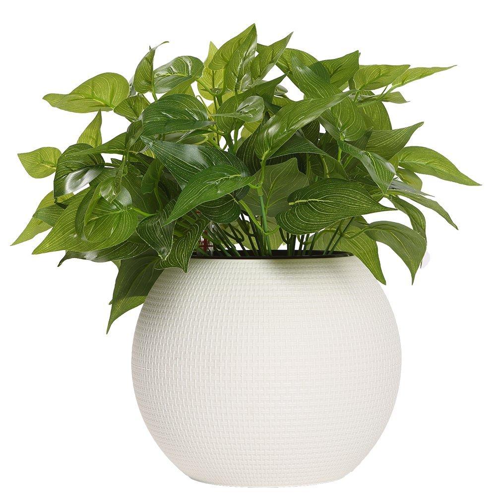 Self Watering Planter Decorative Planter Pot 7.8inch White