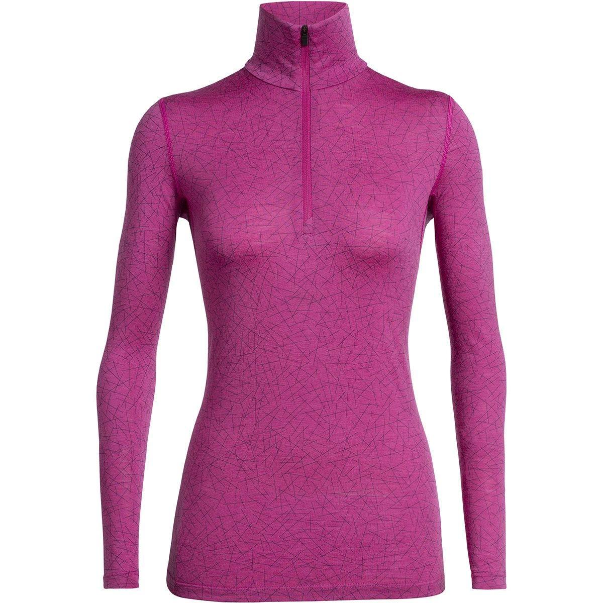 Icebreaker 200 Oasis Longsleeve Half Zip Shirt - Sky Paths - Women - Merinoshirt