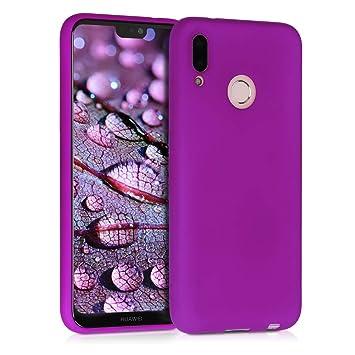 kwmobile Funda para Huawei P20 Lite - Carcasa para móvil en [TPU Silicona] - Protector [Trasero] en [Violeta neón]