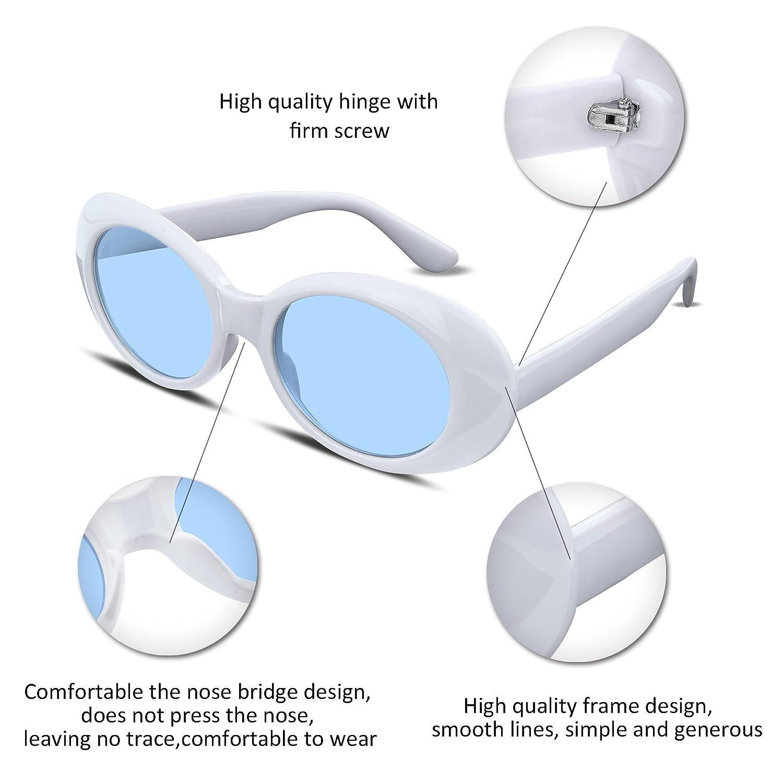 77d3503bab FEISEDY Clout Goggles Kurt Cobain Sunglasses HypeBeast Oval Mod Style B2253  B2253-XBK-FF larger image