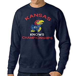 Mens Kansas Jayhawks Knows Championships Pullover Hoodies Sweatshirts